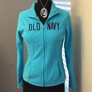 Old Navy Fleece full zip size small /P, blue excellent normal wear no stains etc